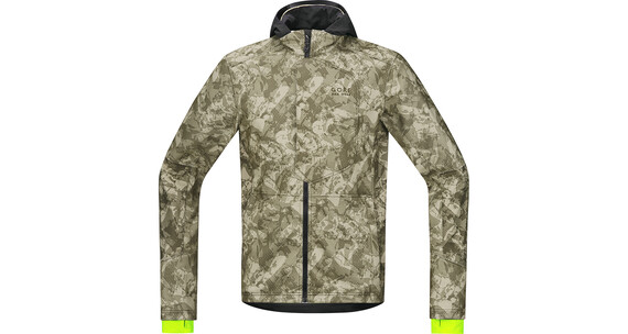 GORE BIKE WEAR Element Urban Print WS SO Kurtka beżowy/oliwkowy
